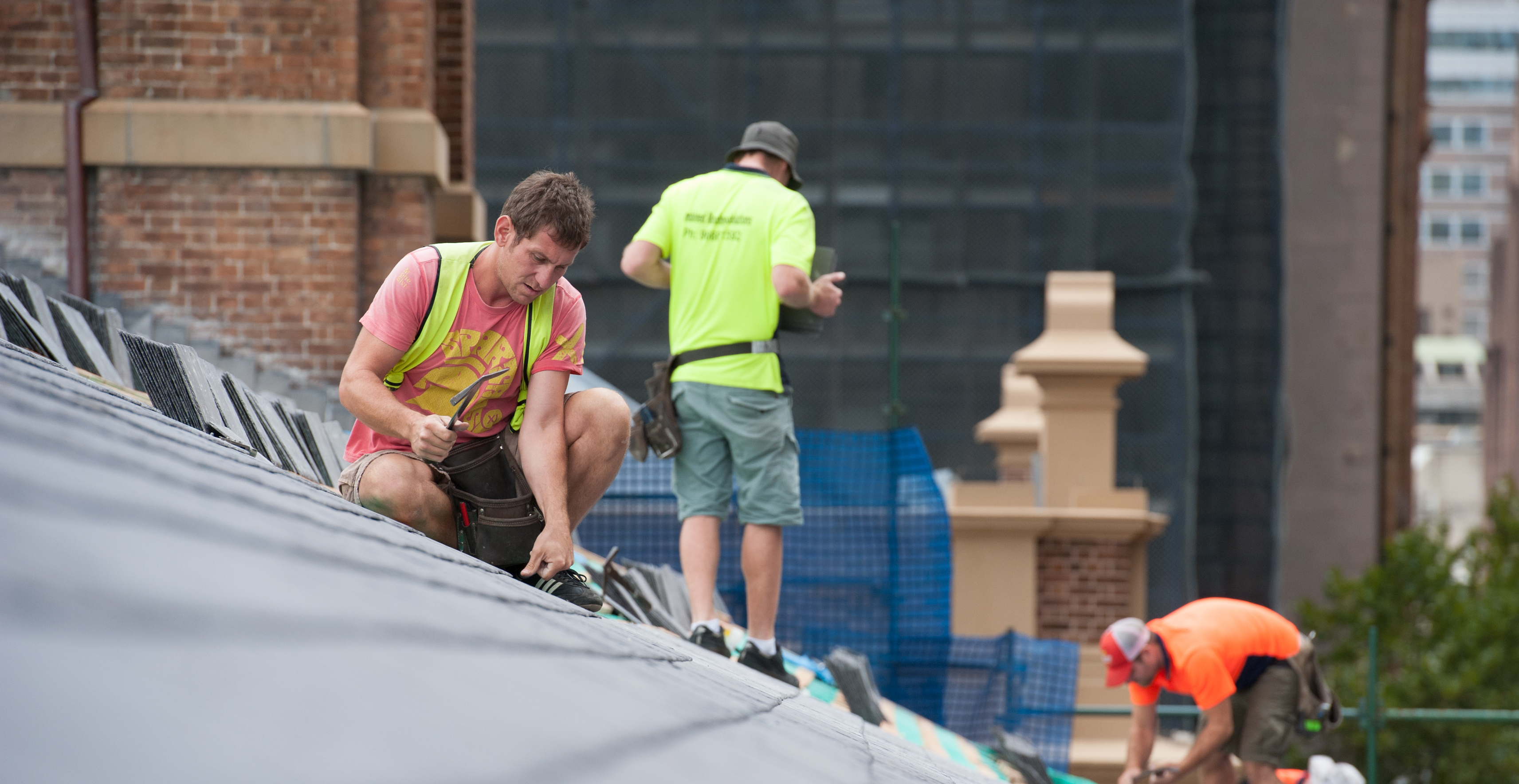 Slate Roof Building Photo