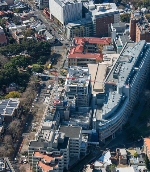 St Vincent's Hospital Construction